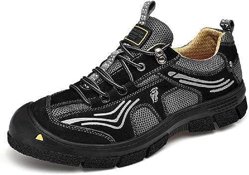 Fuxitoggo Chaussures de Course pour Hommes en Plein air, Sports de Glisse antidérapantes, Chaussures de randonnée (Couleuré   Noir, Taille   EU 44)