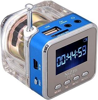 RivenAn Mini Digital Portable Music MP3 Player Micro SD USB FM Radio TT-028, Blue