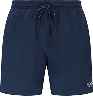 BOSS Mens Starfish Quick-Drying Swim Shorts with Contrast Logo and Piping