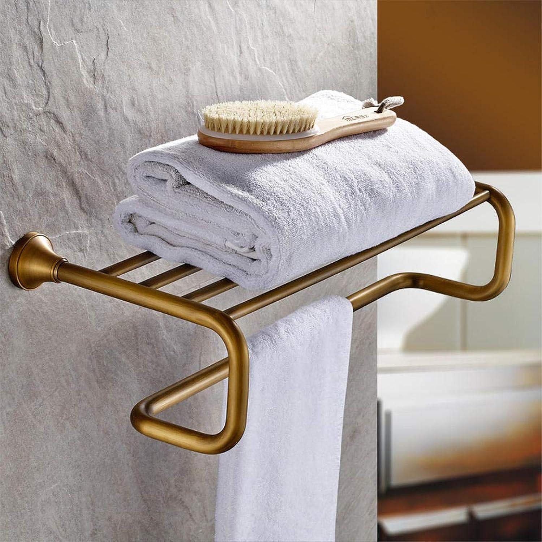 Bathroom Accessories Bathroom Accessories Brass European Antique High Quality Vintage Towel Rack Towel Rack Long Wall Hanging 60Cm