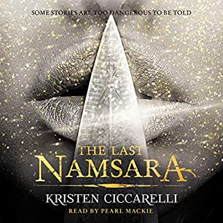 The Last Namsara     Iskari, Book 1              By:                                                                                                                                 Kristen Ciccarelli                               Narrated by:                                                                                                                                 Pearl Mackie                      Length: 11 hrs and 17 mins     34 ratings     Overall 4.1