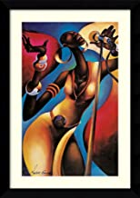 Framed Wall Art Print The Songstress by Maurice Evans 25.12 x 35.38