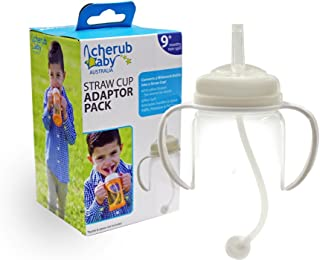 Cherub Baby Straw Cup Adaptor Pack for Wideneck Bottles