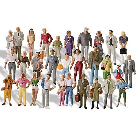 30個入 情景コレクション 人間 人形 人物 人間フィギュア塗装人 1:43 鉄道模型 建物模型 ジオラマ P4310-30-NJP