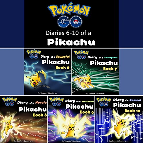 Pokemon Go: Diaries of a Pikachu, Second 5 in 1 audiobook cover art