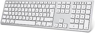 Teclado Inalambrico para Mac OS (Macbook, Mac Mini, iMac, Mac Pro), Teclado Recargable, Teclado Bluetooth para Mac OS, OMO...
