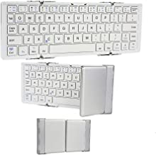 Cooper Optimus [Folding Bluetooth Keyboard] for Velocity Micro Cruz PS47, T103, T301, T408, T410 | Rechargeable Lithium Battery (White & Silver)