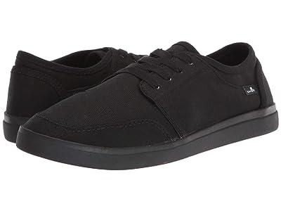 Sanuk Vagabond Lace Sneaker (Black/Black) Men