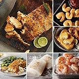 Salmon, Shrimp & More from Omaha Steaks (Marinated Salmon Fillets, Sole Almondine, Icelandic Cod Fillets, Wild Argentinian Red Shrimp, Pub-Style Cod, and Redhook Ale Beer-Battered Shrimp)