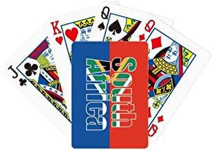 DIYthinker South Africa Country Flag Name Poker Playing Card Tabletop Board Game Gift