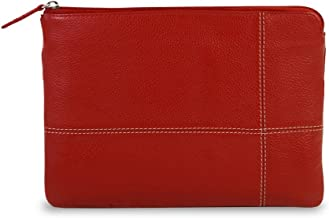 Brydge BrydgeMini Genuine Leather Sleeve for Apple iPad Mini 1, 2, 3 & 4   Compaitble 7.9 Keyboard   Handcrafted Protective 100% Full-Grain Leather Organizer Case Cover (Red)