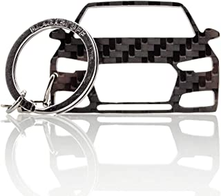 BlackStuff Carbon Karbonfaser Schlüsselanhänger Kompatibel mit A4 S4 RS4 B9 8W 2016 BS 848