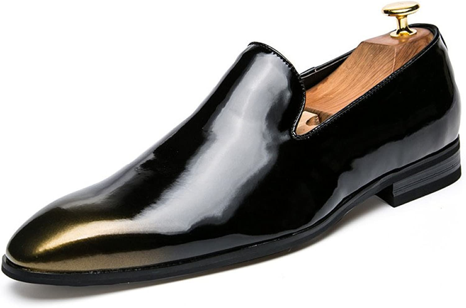 Men Retro Pointed Dress shoes Sets of Feet shoes Low shoes