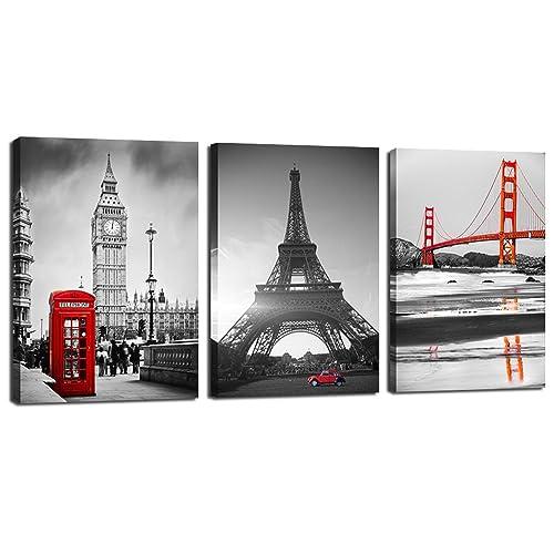 4b57a3b5d14 Live Art Decor - Canvas Prints Famous Building Wall Art Decor 3 Panels  Modern Picture Print
