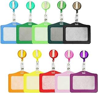 Porte-cartes Multicolores Titulaire de Carte rétractables avec Clip Rétractable Parfait pour Carte de Visite, Carte d'étud...