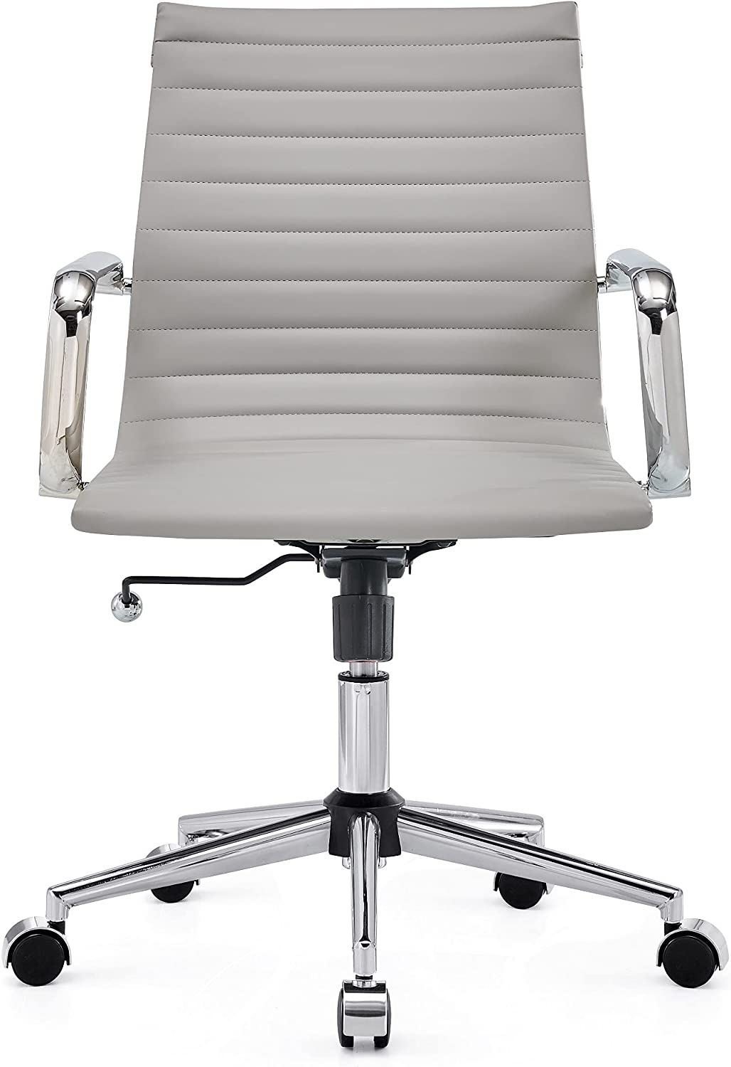CAROCC Desk Chairs with Wheels Office Chair with Lumbar Support mid Back Office Chair Swivel Desk Chair 320lbs (3011 Grey)