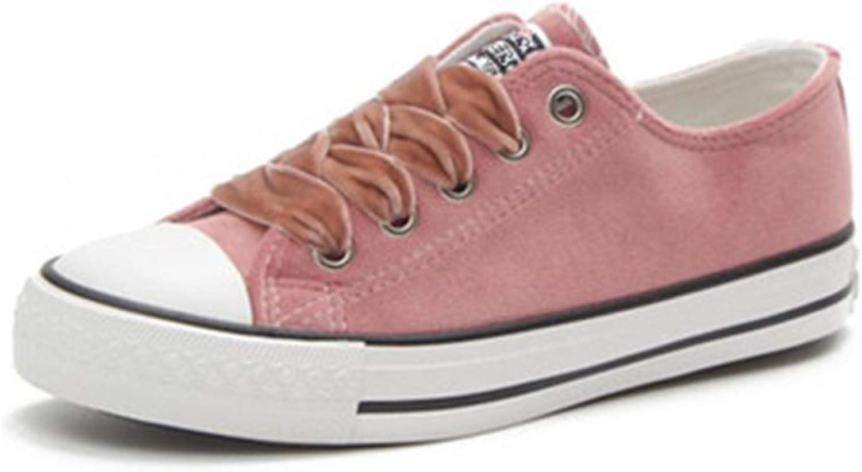 Women's Vulcanize shoes Spring Girls Female Velvet Sneakers Casual Walking Footwear Pink 7