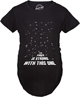 f5250b78d Maternity Force is Strong Funny Pregnancy T-Shirt for Expecting Mothers