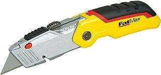 Stanley 0-10-825 Cutter à Lame Rétractable - Gamme Fatmax - Compact et Polyvalent - Ouverture une main - Changement Facile...