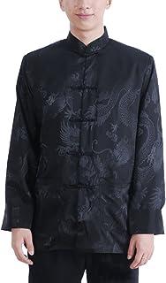 448570dc6bf59 ACVIP Homme Veste de Tang de Dragon Brodés Kung-Fu Vêtement Chinois Chemise,  3