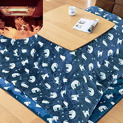 N / A Fußwärmer Kaffeetisch, Kotatsu Heizung Futon Set, Japanisch Herd Tisch, Tatami Laptop Tray Table, 4PCS Tröster/Pad/Heizung/Tabelle