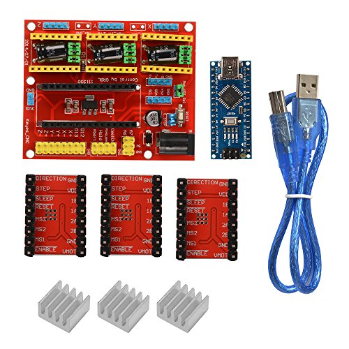 CNC Shield V4 Graver 3D Printer Expansion Board Nano 3.0 Stepper Motor A4988 Driver Kit voor Arduino