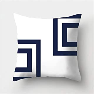 Pillowcase Dark blue geometric printing decorative pillow pillowcase polyester pillow throwing pillow sofa decoration pill...