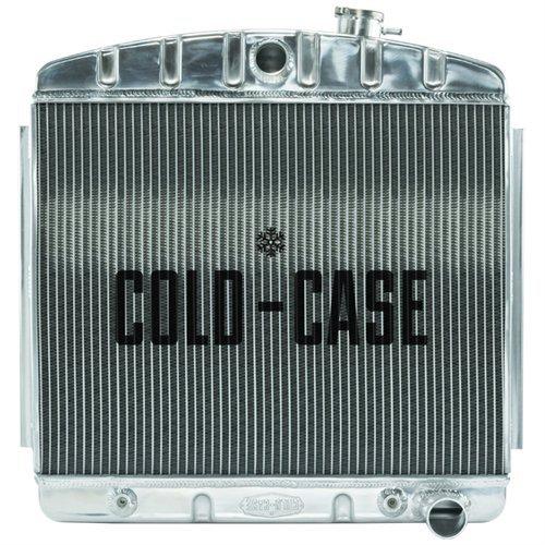 Radiadores de caja fría CHT562A Silver 55-57 Tri-5 Chevy Radiador (V8)