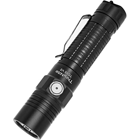 ThruNite TC15 V2 2531 High Lumen Ultra-Bright Flashlight, USB Rechargeable LED Handheld Flashlights, CREE XHP 35.2 LED, Indoor/Outdoor (Camping, Security and Emergency Use) Cool White - Black CW…