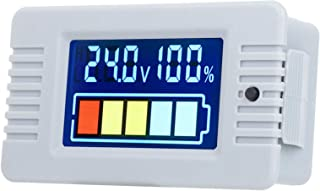 Labuduo Voltímetro digital, indicador de capacidade de bateria, LCD durável eletrônicos automotivos para sistemas de energ...