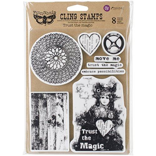 Prima Marketing finnabair Cling Sellos 6x7.5-Inch-Trust la Magia