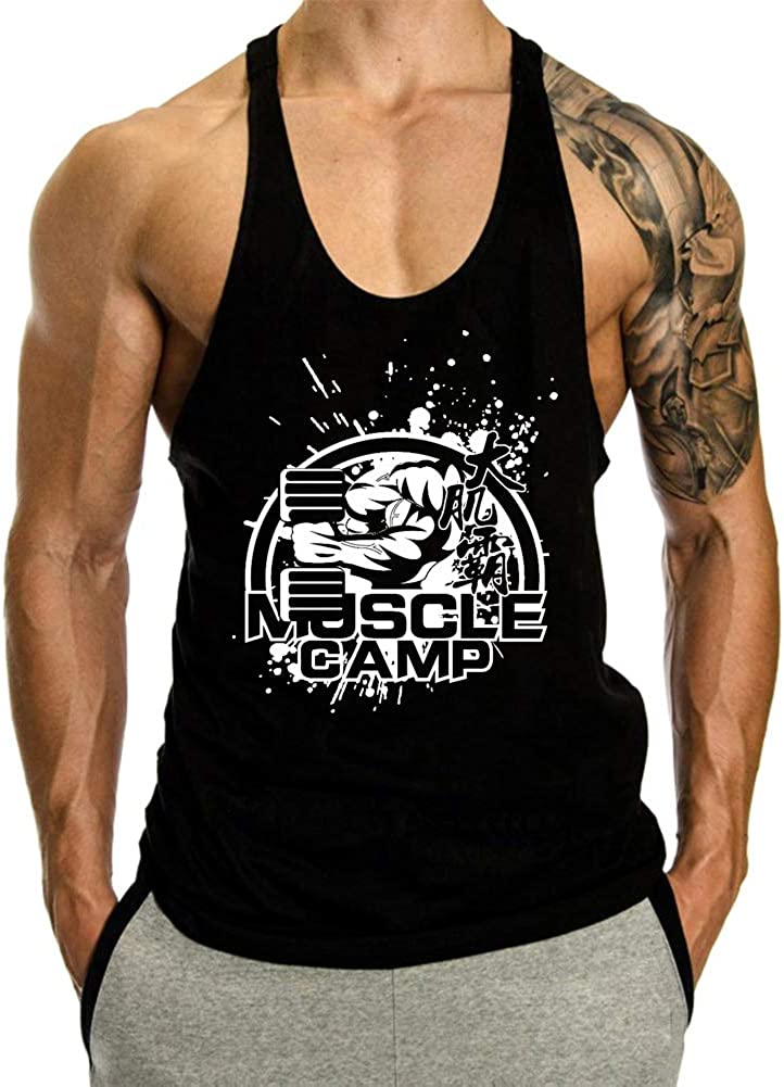 InleaderAesthetics Men's Gym Bodybuilding Workou Stringer Muscle High 2021new shipping free shipping quality new
