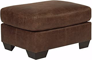 Signature Design by Ashley - Bladen Contemporary Leather Ottoman & Footrest, Coffee Brown