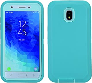 Annymall Galaxy J3 2018 Case, Heavy Duty Defender Armor Cover with Swivel Belt Clip & Built-in Screen Protector for Samsung J3 2018/ Galaxy Amp Prime 3/ J3 Achieve/ J3 Star/ J3V (2018) (Green/Green)