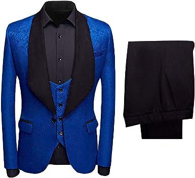 HOTK Hombre Blanco/Rosa/Azul/Negro/Rojo Jacquard Slim Fit ...