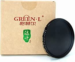 72mm Variable ND Filter,GREEN.L ND2 to ND400 Fader Neutral Density Filter for Camera Lens, Optical Glass with Filter Pouch