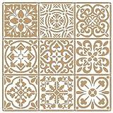TODO-STENCIL Deco Fondo 095 Baldosas 2 Capas Medidas aproximadas: Medida Exterior 25 x 25 Medida del...