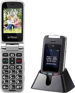 Cellulare per Anziani Artfone C10 GSM Telefono per Anziani a Conchiglia Tasti Grandi 2,4'' Display Volume Alto Funzione SO...
