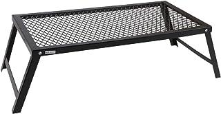 アウトドアテーブル 焚き火テーブル ロータイプ クッカースタンド キャンプファイヤーグリル 専用ケース付 55×30cm