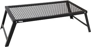 アウトドアテーブル 焚き火テーブル ロータイプ クッカースタンド キャンプファイヤーグリル 55×30cm