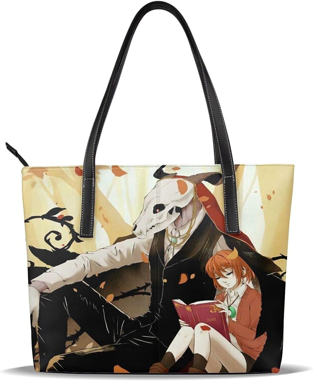 The Ancient Magus' Bride Cartoon Lady Large Pu Leather Handbag Top Handle Casual Shoulder Bag