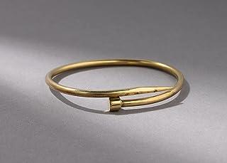 Nagel Armreif aus Messing gold offen BB004
