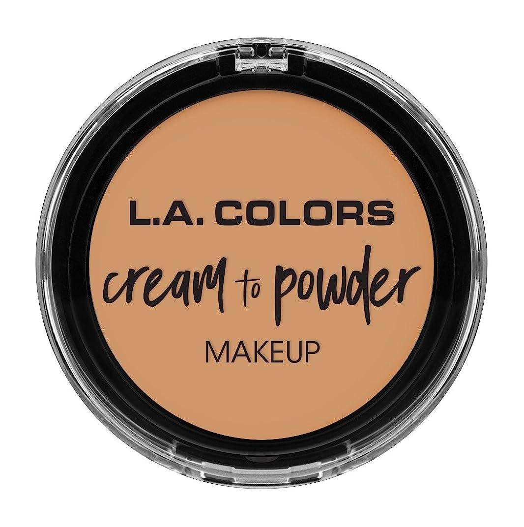 厳密に詐欺兄L.A. COLORS Cream To Powder Foundation - Honey Beige (並行輸入品)