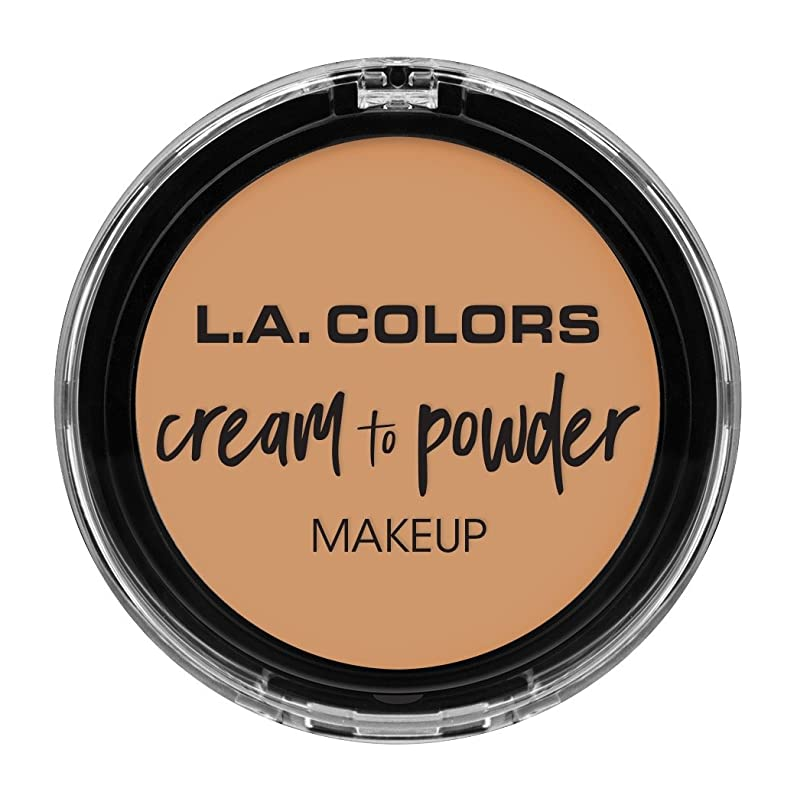 男やもめ巨人上流のL.A. COLORS Cream To Powder Foundation - Honey Beige (並行輸入品)