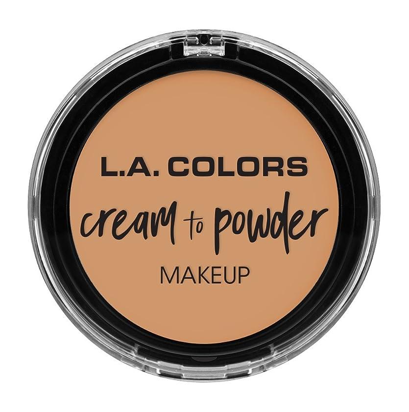 開始マーティンルーサーキングジュニア強打L.A. COLORS Cream To Powder Foundation - Honey Beige (並行輸入品)