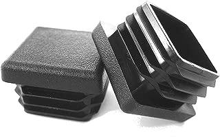Prescott Plastics 10 Pack: 1 Inch Square Plastic Plug, Tubing End Cap, Durable Chair Glide