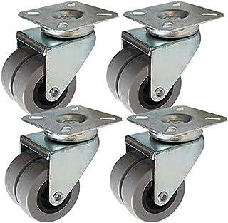 Ruedas de sillas de oficina 4 PCS Frenos Ruedas Ruedas universal con el eslabón giratorio de 2 pulgadas ruedas giratorias ...