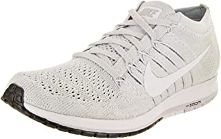 Womens Flyknit Streak Low Top Lace Up, Pure Platinum/White/Black, Size 8.0