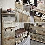Bonanza Vintage Garderoben Set in Driftwood Optik - Retro Flurgarderobe für Ihren Eingangsbereich - 274 x 188 x 40 cm (B/H/T) - 9