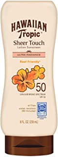 Hawaiian Tropic Sheer Touch Lotion Sunscreen, Moisturizing Broad-Spectrum Protection, SPF 50, 8 Ounces, Pack of 2
